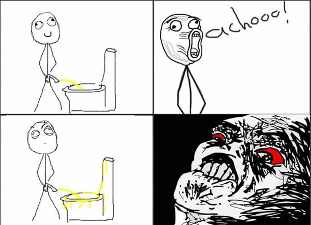 ffffuuuu going to the bathroom, rage comic