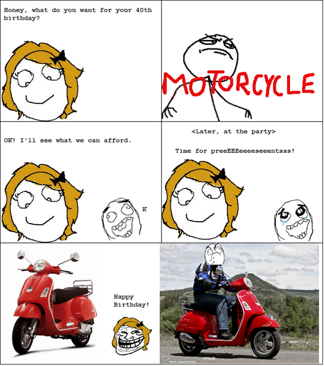 ffffuuuu motorcycle, rage comic,