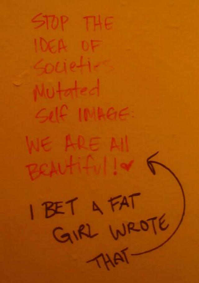 bs funny sign fat girl