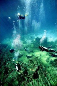 underwater dive site
