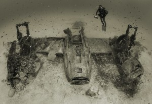 underwater plane crash