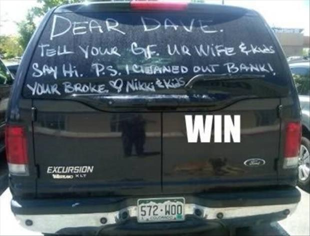 Dear Dave, funny cheating husbands