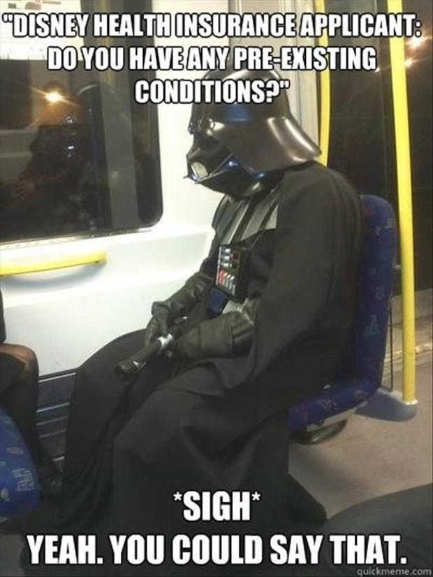 darth vadar, disney funny