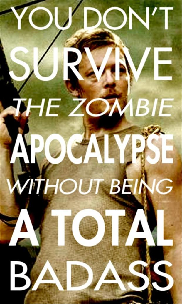 daryl dixon, bad ass, zombies