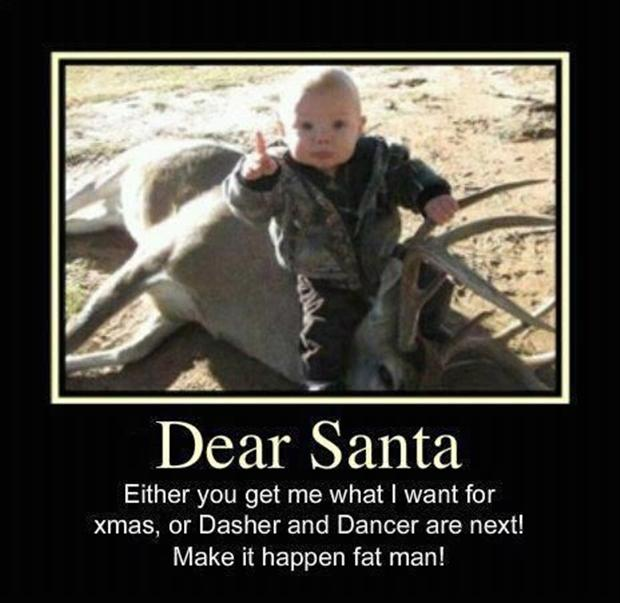 dear santa, warning from kid, funny