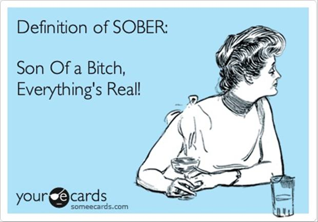 definition of sober, funny definitions