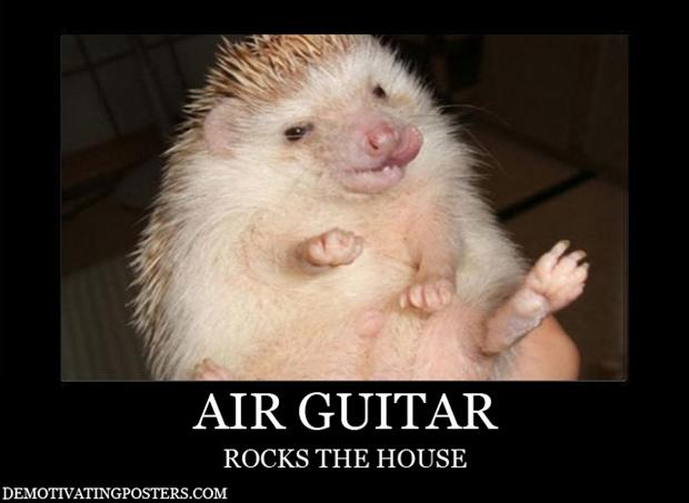 demotivational posters, AIR-GUITAR