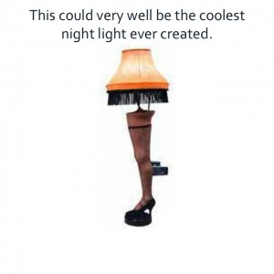 christmas story leg lamp night light