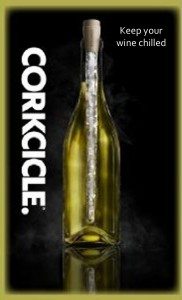cork icicle chilled wine