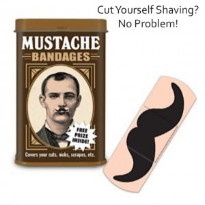 cut yourself shaving bandaid mustaches
