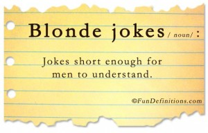 Fun Definitions - Blonde Jokes