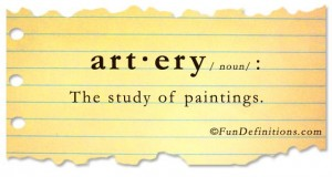 Fun Definitions - artery
