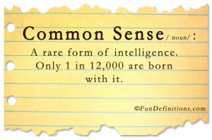 Funny definitions -common sense