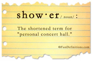 Funny definitions -shower