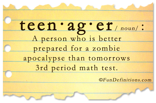 Funny definitions of homework