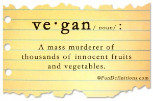 Funny definitions -vegan