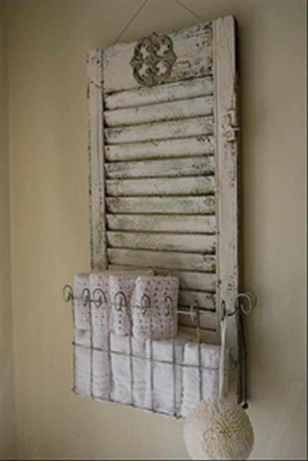 creative uses for old window shutters 20 pics
