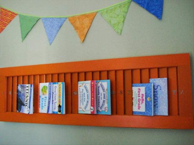 Creative uses for old window shutters 20 pics - Creative ways to store your magazines ...