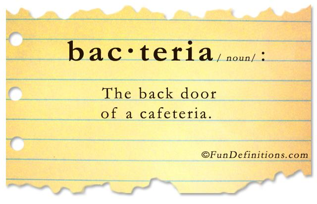 Fun Definitions - bacteria - Dump A Day