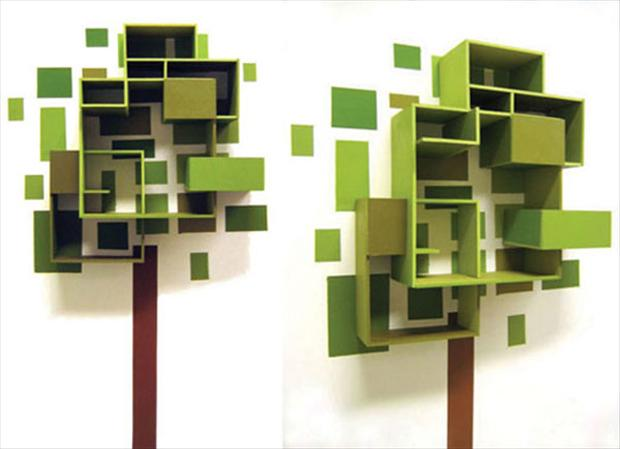 Tree shelf design with the amazing design from thorunn arnadottir is made from the wooden - Amazing shelves ...