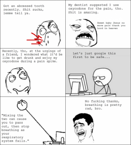abcessed tooth rage comic