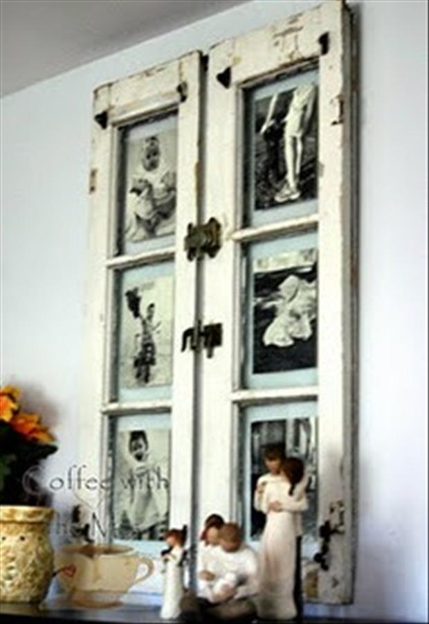 Window pane ideas on pinterest old windows vintage for Vintage picture frame ideas