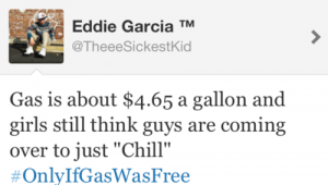 funny tweet about gas prices