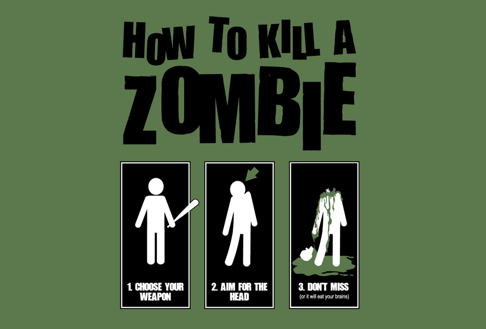 how to kill a zombie funny picture