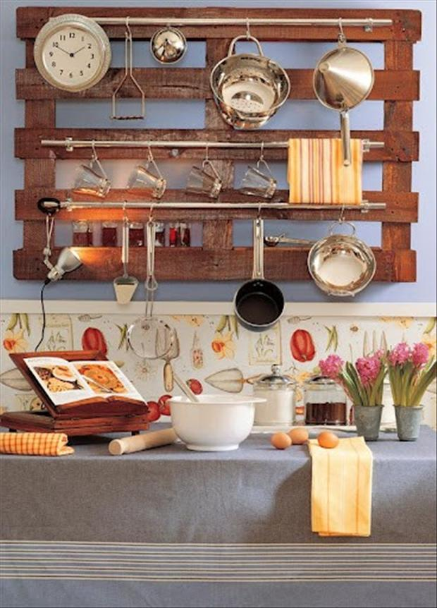 56 Useful Kitchen Storage Ideas: Amazing Uses For Old Pallets (30 Pics