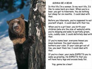 I want to be a bear