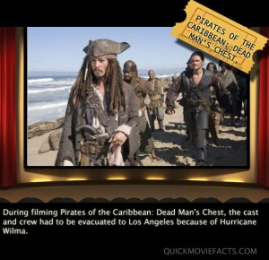Pirates of the Caribbean Movie fact