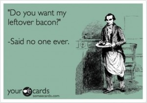 funny bacon ecard