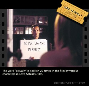 love actually movie fact