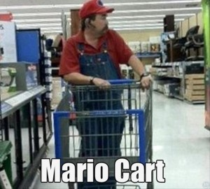 mario cart funny wal mart picture