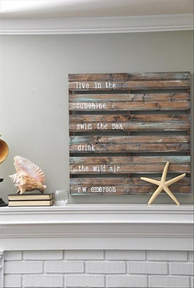 Wall Art With Wood Pallets : Pallet crafts g ? pixels crafty