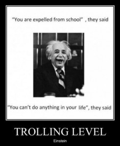 Einstein, demotivational posters