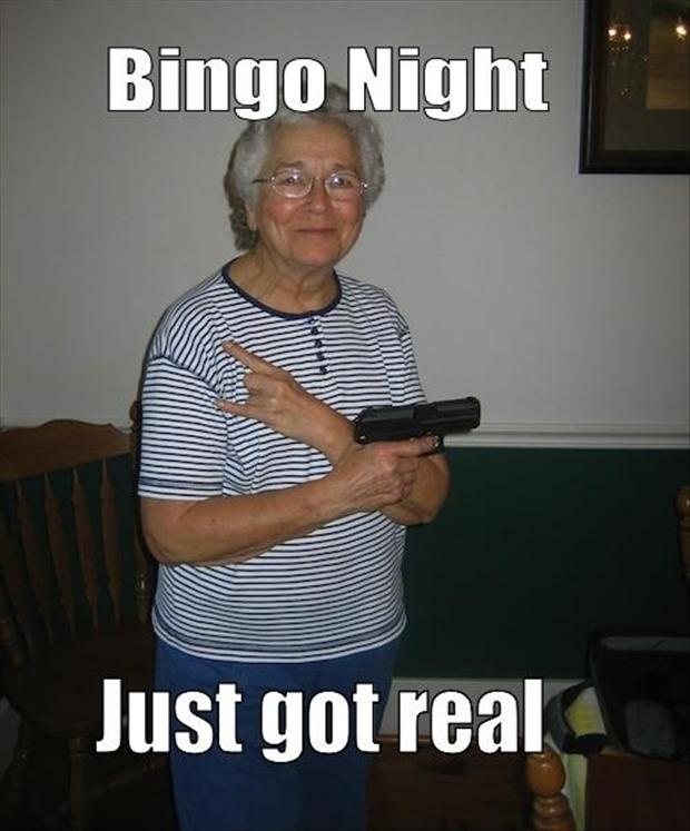 bingo night old people funny
