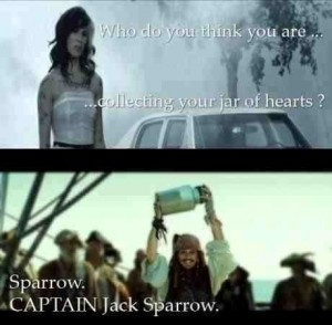 captain jack sparrow, collecting your jar of hearts, funny pictures