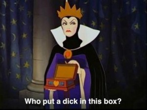 dick in the box, funny snow white