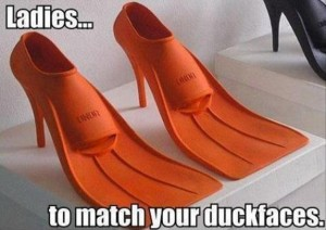 duck faces shoes