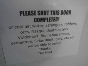 funny door sign