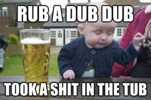 funny drunk baby