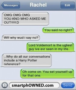 funny harry potter text