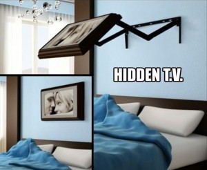 genius ideas 23, hidden tv