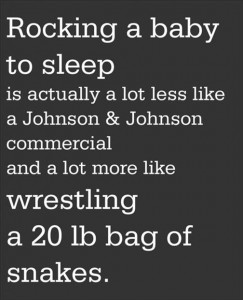 how to get your baby to sleep, funny quotes