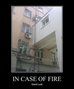 in case of fire demotivational posters