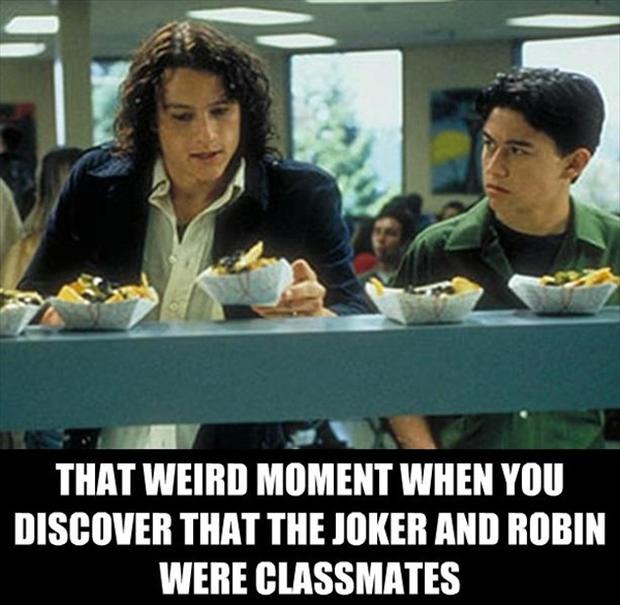 ... batman, went to school together, that awkward moment, funny pictures