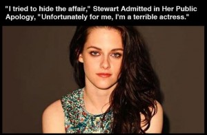 kristen stewart, public apology, cheating, funny quotes, funny pictures