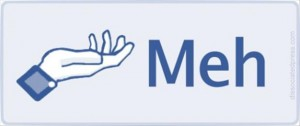 meh button on facebook