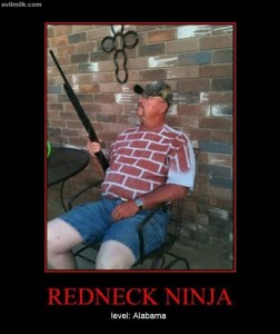 redneck ninja, demotivational posters